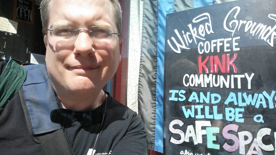 Me outside of Wicked Grounds, September 2017