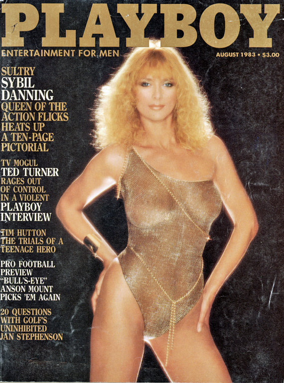 Cover of Playboy August 1983, featuring Sybil Danning